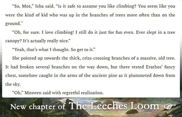 The Leeches Loom, Chapter 9 – Moswen